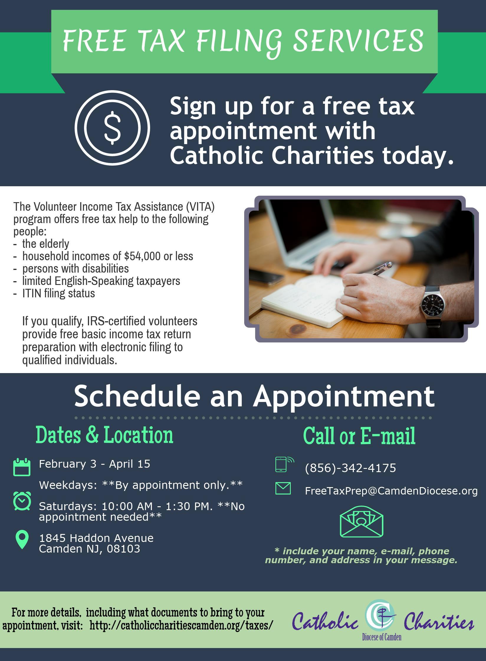 Free Tax Filing Services At Catholic Charities Catholic Charities